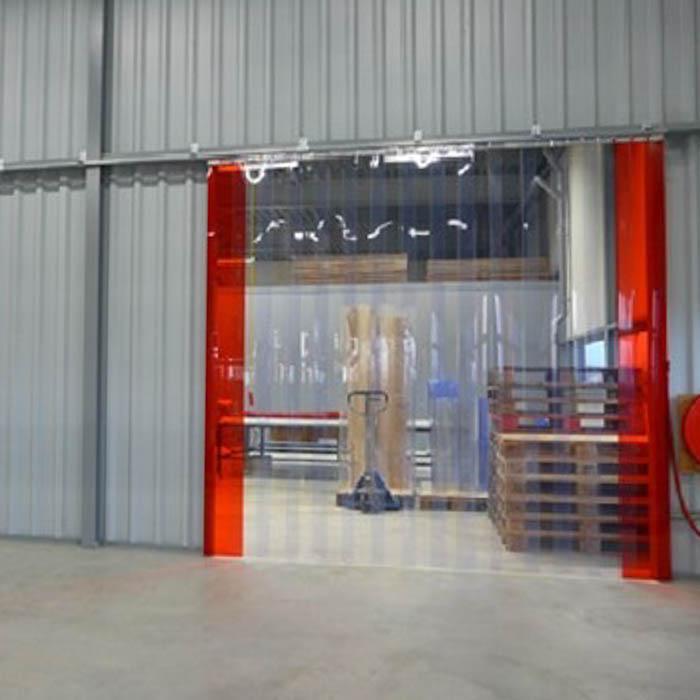 PVC Streifenvorhang zum Schieben